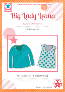 Big Lady Leana, shirt met plooitjes langs de halsrand (introductiekorting)