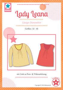 Lady Leana, shirt met plooitjes langs de halsrand