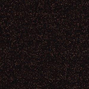 fijne boordstof zwart met koperrood lurex / 90 cm rondgebreid