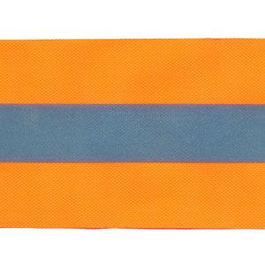 Fluoriserend oranje plastic band met reflectiestreep 50mm