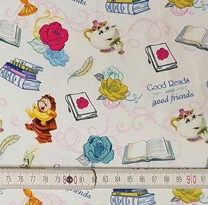 Disney's tricot Belle en het Beest figuurtjes op wit