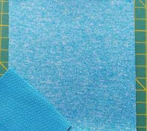 Dunne softshell turquoise gemêleerd: wind-, waterdicht en ademend!