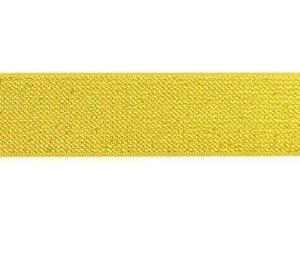 glitter-taille-elastiek goud 2,5 cm breed:  / HALVE METER