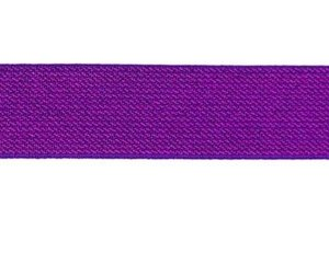 glitter-taille-elastiek paars 2,5 cm breed:  / HALVE METER