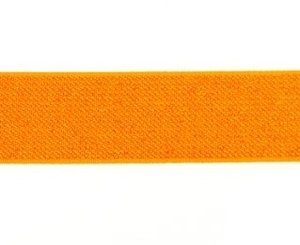 glitter-taille-elastiek oranje 2,5 cm breed:  / HALVE METER