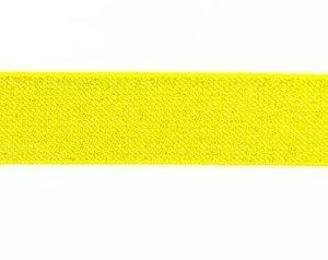 glitter-taille-elastiek geel 2,5 cm breed:  / HALVE METER
