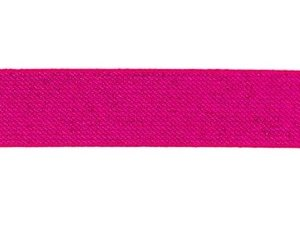 glitter-taille-elastiek fuchsia 2,5 cm breed:  / HALVE METER