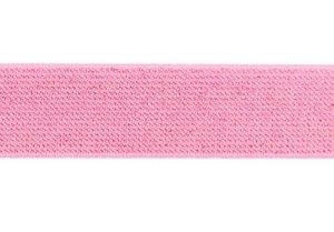 glitter-taille-elastiek roze 2,5 cm breed:  / HALVE METER