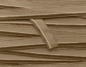 elastisch paspelband, grijzig-bruin oftwel donker-taupe