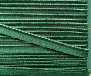 elastisch paspelband, donkergroen
