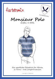 Monsieur Polo in de maten XS, S, M, L, XL, XXL, XXXL