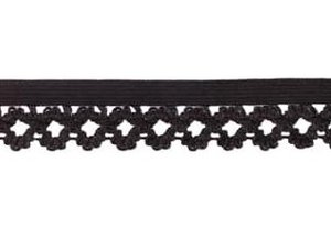 elastisch kantje, zwart