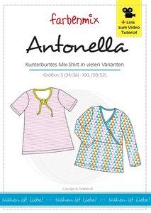 Antonella: patroon van een shirt met variaties in de maten S t/m XXL