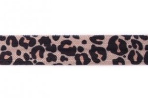 omvouwelastiek luipaardprint