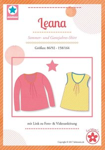 Leana, shirt voor het hele jaar in de maten  86/92- 158/164 : introductiekorting