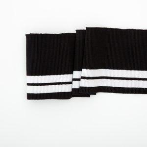Clyde: College Cuffs zwart met witte strepen