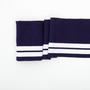 Clyde: College Cuffs donker-kobaltblauw met witte strepen