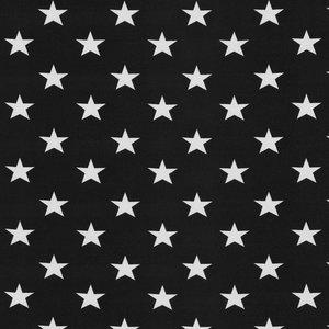 Verena, zwarte tricot met witte sterren van 1 cm