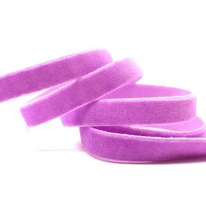 elastisch fluweelband lila ,1cm breed
