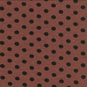 Kito: tricot donkeroudroze/roodbruin met zwarte noppen