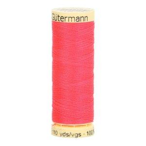 Gütermann allesnaaigaren 100 meter!! neon roze-rood kleur 3837