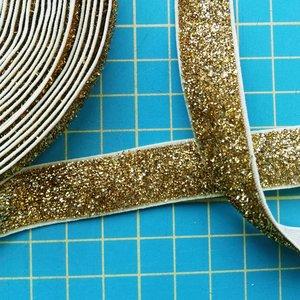 glitterelastiek goud 1,6 cm breed