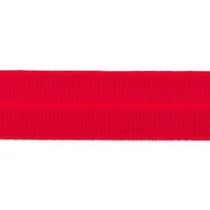 rood: omvouwelastiek 2 cm breed met ribbeltje