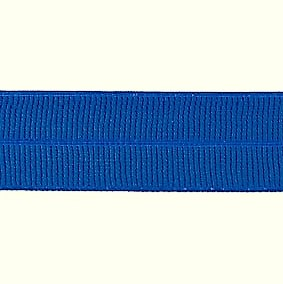 blauw: omvouwelastiek 2 cm breed met ribbeltje