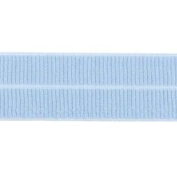 lichtblauw: omvouwelastiek 2 cm breed met ribbeltje