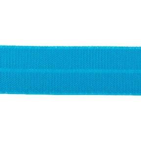 turquoise: omvouwelastiek 2 cm breed met ribbeltje