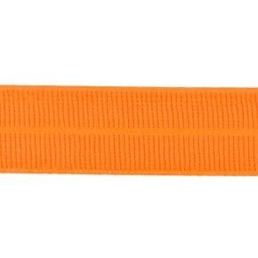 oranje: omvouwelastiek 2 cm breed met ribbeltje
