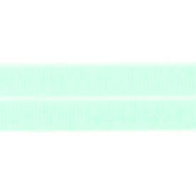 lichtgroen: omvouwelastiek 2 cm breed met ribbeltje