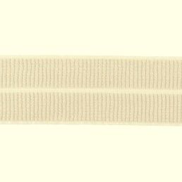 beige: omvouwelastiek 2 cm breed met ribbeltje