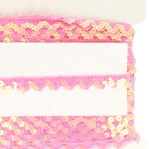 roze elastisch paillettenkantje