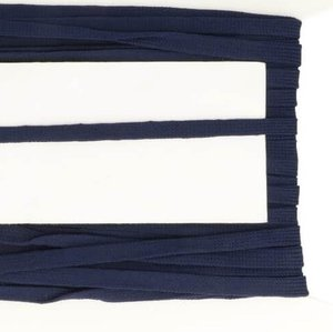 donkerblauw veterband oftewel plat koord 9 mm breed, dubbeldik