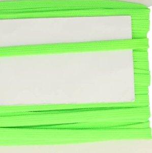 neon lichtgroen veterband oftewel plat koord 9 mm breed, dubbeldik