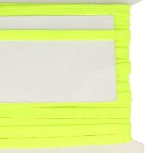 neon geel veterband oftewel plat koord 9 mm breed, dubbeldik