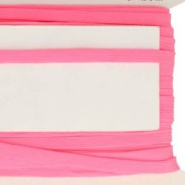 neon roze veterband oftewel plat koord 9 mm breed, dubbeldik