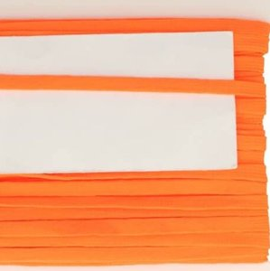 neon oranje veterband oftewel plat koord 9 mm breed, dubbeldik