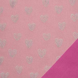 Pondero = reflecterende softshell: hartjes op roze