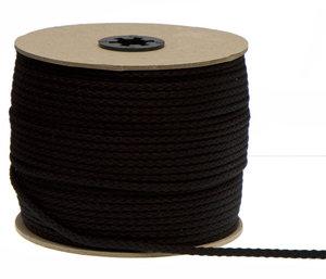 zwart koord 5 mm gevlochten