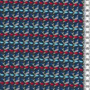 Donna Lucia by Lila Lotta Swafing exclusive, blauw met kleurtjes (niet-rekbare stof)