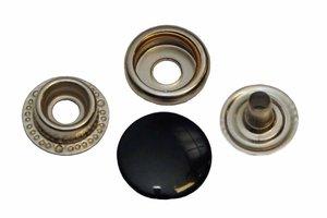 10 metalen drukkers zwart 15 mm