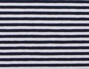 coupon 40 cm: Gitta: strepentricot donkerblauw/witte streep