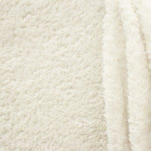 doubleface teddy-fleece gebroken wit
