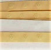 drukkertjesband zacht maisgeel: afstand 2,5 cm: HALVE meter