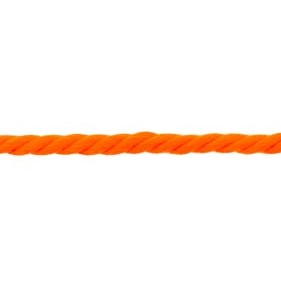 Koord 5 mm gedraaid, neon oranje