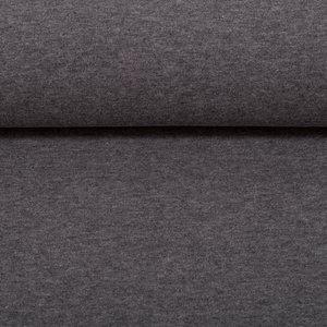 Eike melange: zacht-geruwde wintertricot grijs met stretch