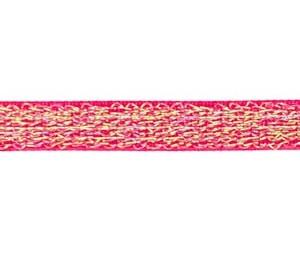 fuchsia/rood elastiek met glitterdraad