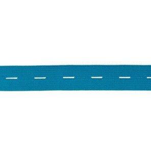 knoopsgatenelastiek turquoiseblauw 1,8 cm breed
